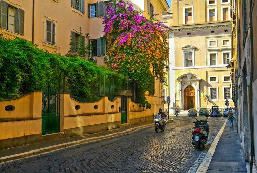 Back Street In Rome