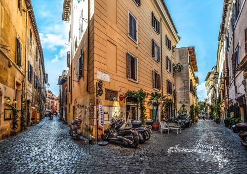 Back Street In Trastevere