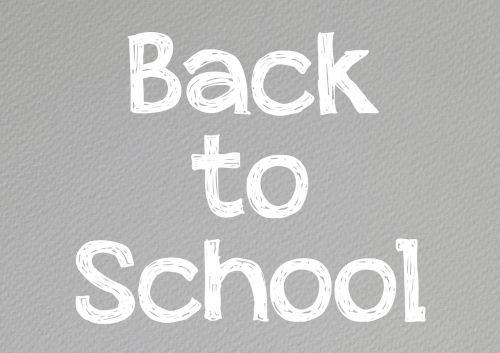 back to school school education