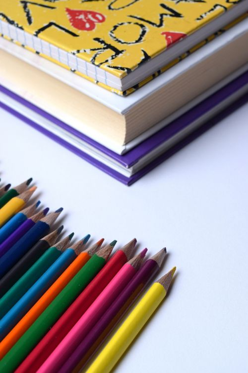 back to school pencils rainbow