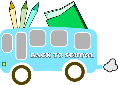 back to school bus back