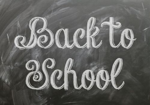 back to school poster blackboard