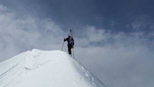 backcountry skiiing summit mountaineering