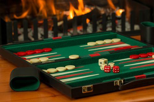 backgammon board game fireside