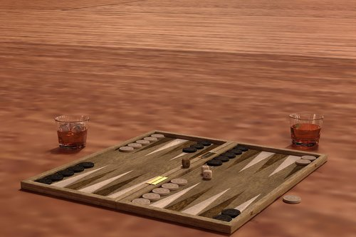 backgammon  play  board