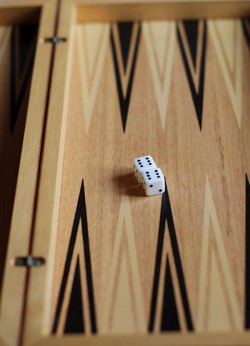 backgammon  game  dice