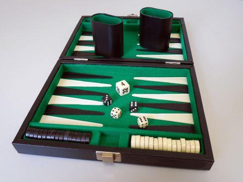backgammon play board game