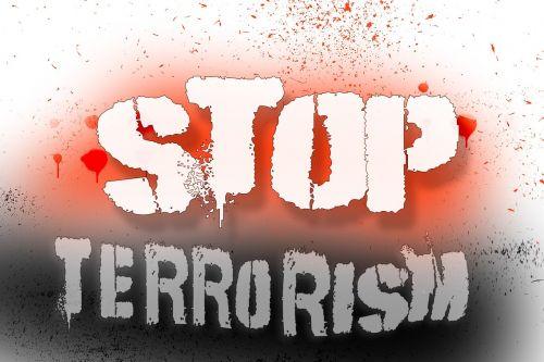 background terrorism black