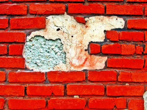 background red brick wall red wall