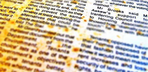 background abstract old newspaper