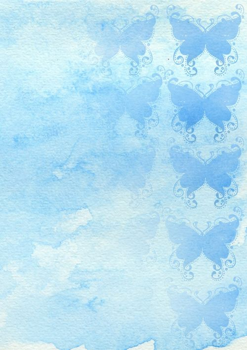 background watercolor butterfly