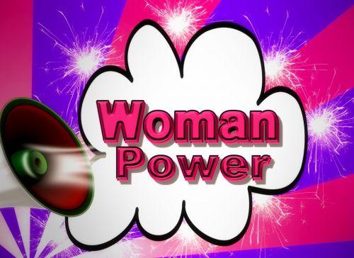 background women's power woman
