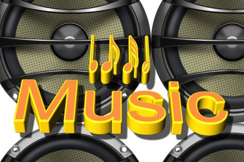 background speakers music