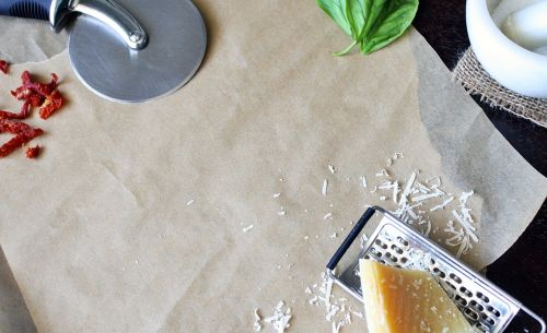 background cutting board pizza cutter