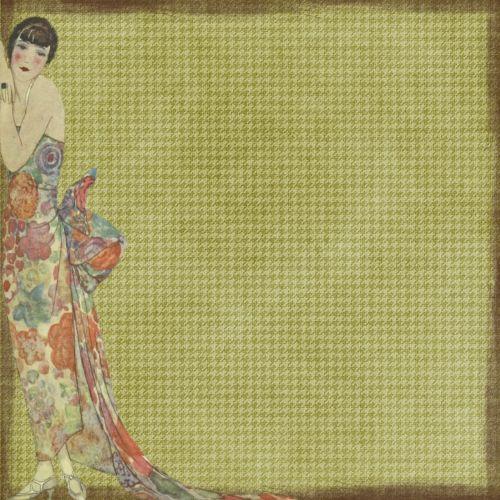 background woman vintage