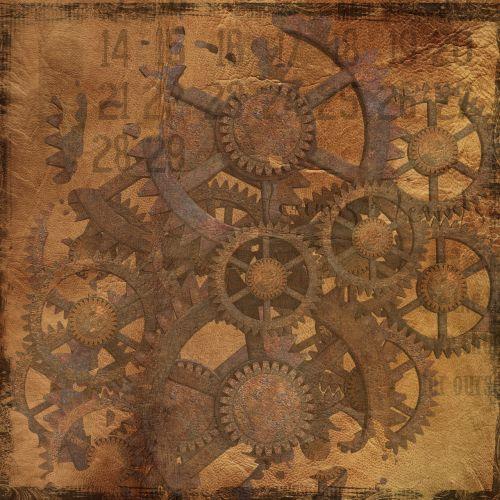 background steampunk gears