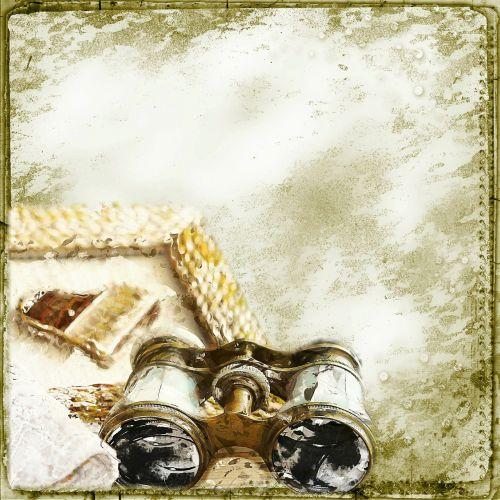 background steampunk binoculars