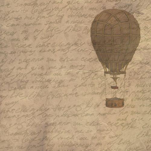 background vintage hot air balloon