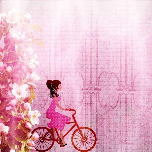 background girl bike
