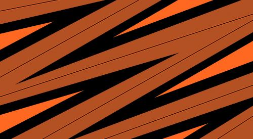background orange zigzag