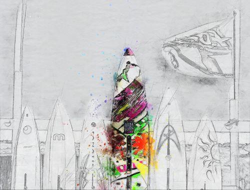 background surf art