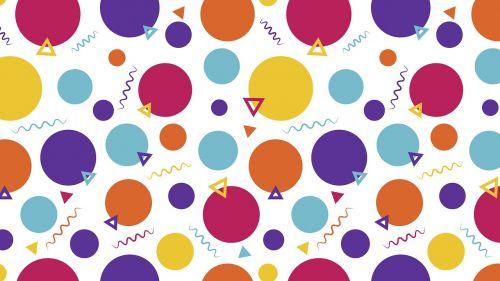 background background polka dot memphis