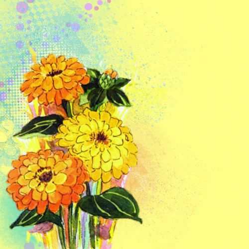 background flowers yellow
