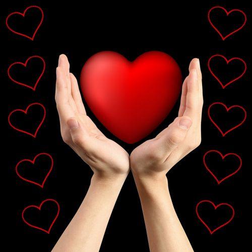 background hands heart