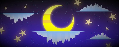 background  crescent moon  moon