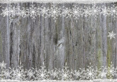 background wood snowflakes