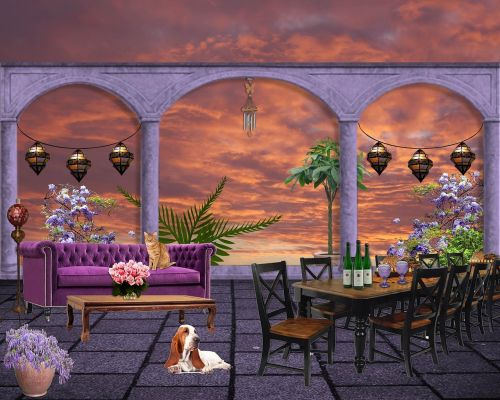 background environment portico