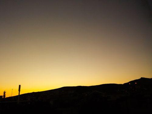 background objective sunset