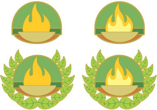background badge brand