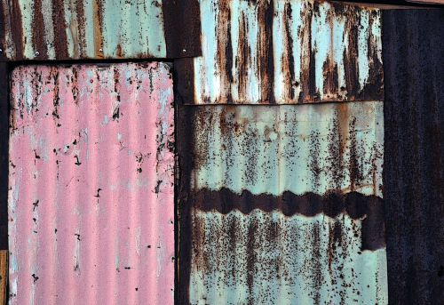 Background Of Corrugated Tins