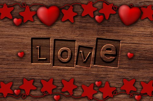background romantic  love  wood