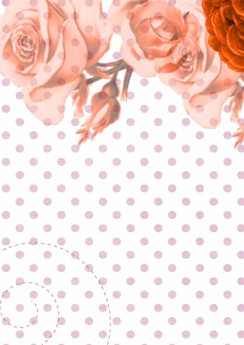 Background Scrapbook Flower Paper