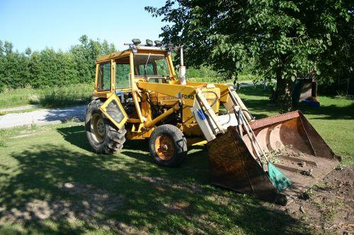 backhoe excavating equipment