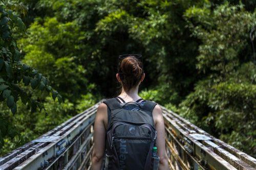 backpack female hiker