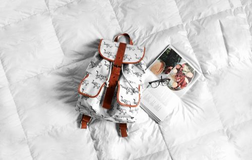 backpack bed book