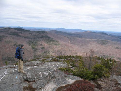 backpack hike mountains