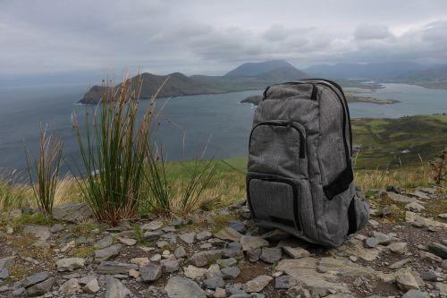backpack hiking break