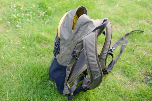 backpack  grass  travel