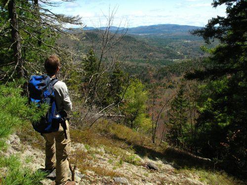 backpacker landscape mountain