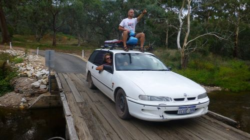 backpacking commodore car