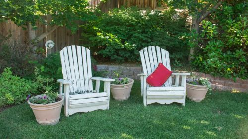 backyard chairs leisure