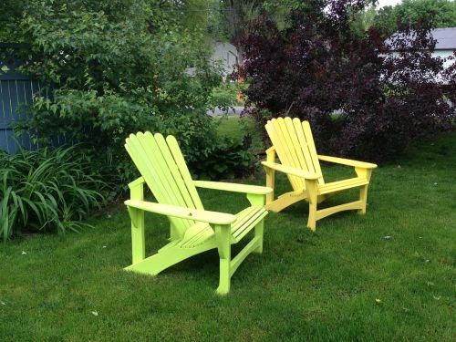 galinis kiemas,vasara,Adirondackas,žolė,kiemas,veja,lauke
