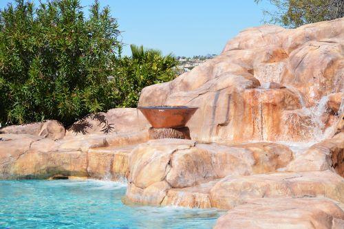 backyard pool rock