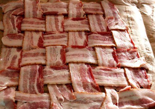 bacon bacon strip bacon cross hatch