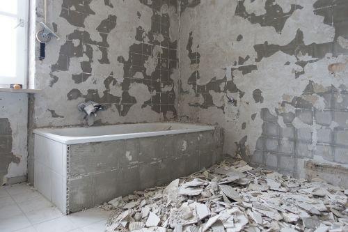 bad renovation wall