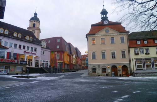 bad salzungen thuringia germany town hall